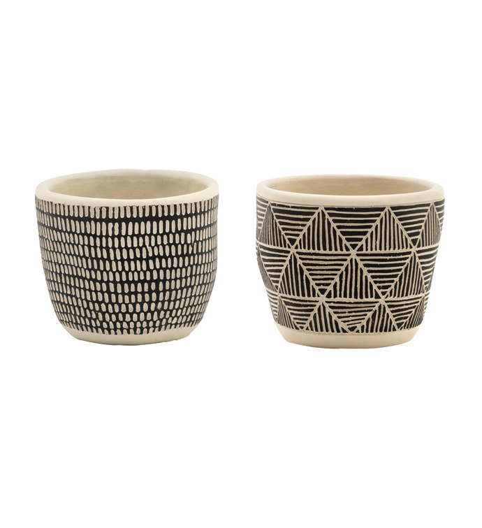 Tribal Pattern Planter, 2 Assorted