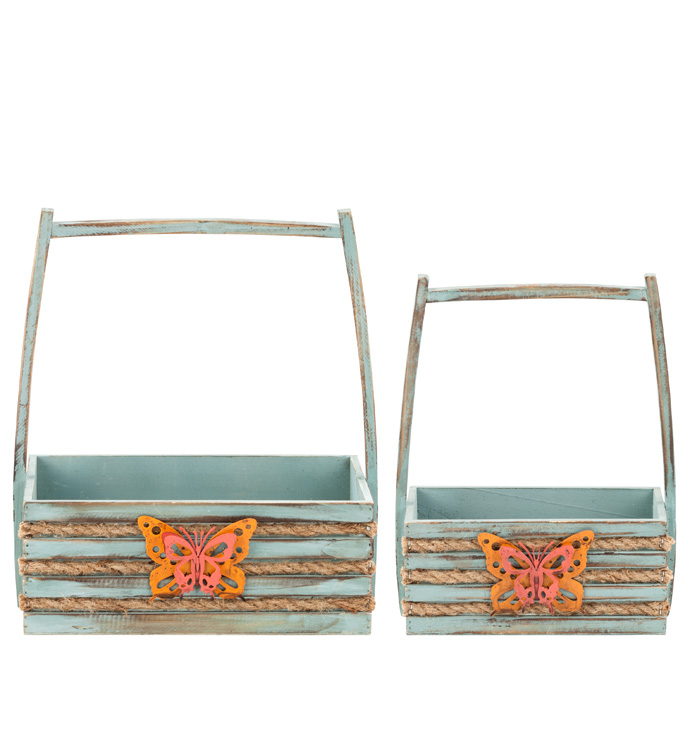 Butterfly Box Planter, Set of 2
