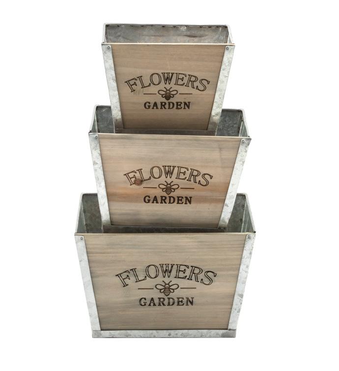 Square Planter Box, Set of 3