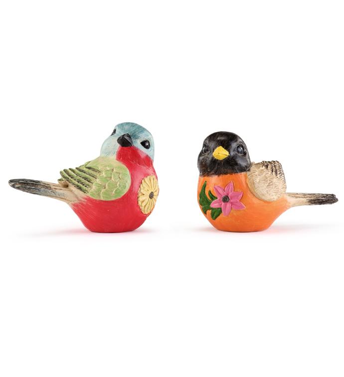Bird w/Flower, 2 Assorted