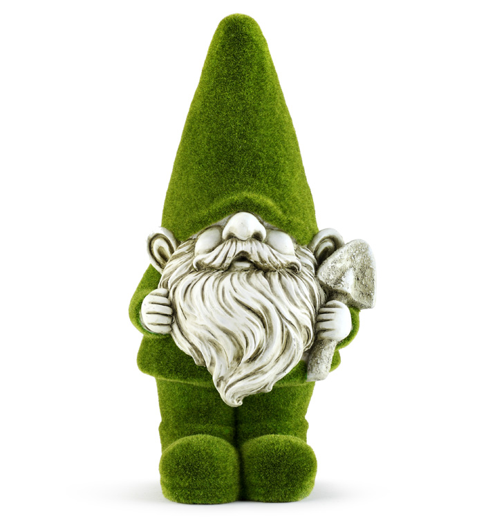 Large Mossy Gnome with Trowel