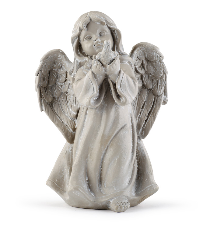 Girl Angel with Bird