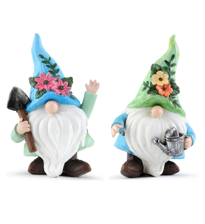 Flower Gnome, 2 Assorted