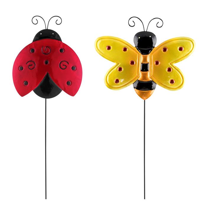 Ladybug/Bee Stake, 2 Assorted