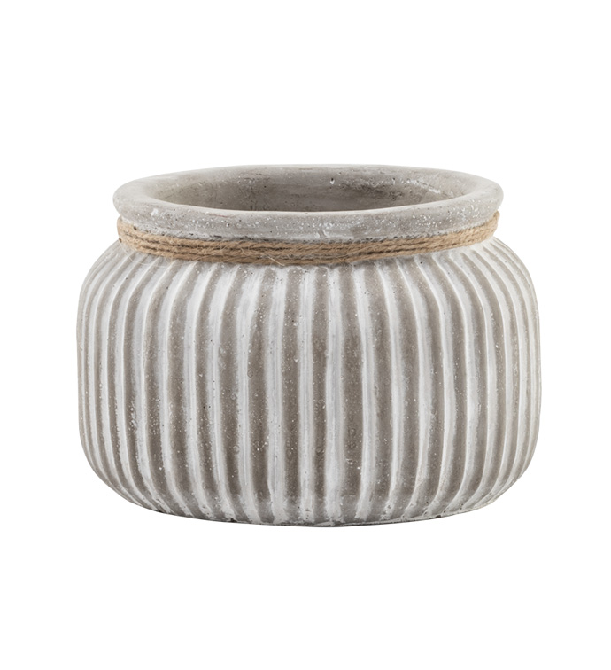 Round Striped Planter