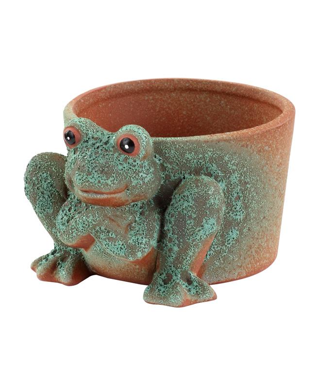 Stone Frog Planter