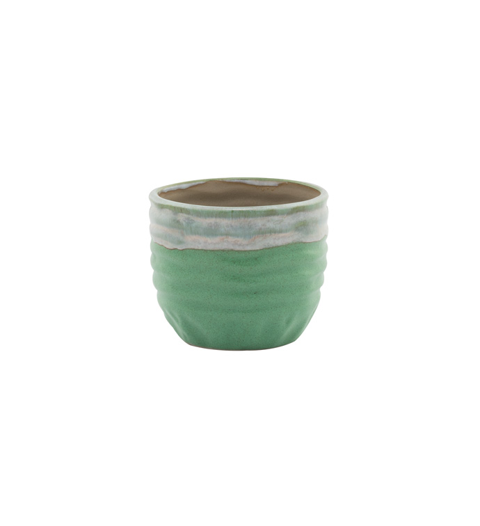 Small Green Drip Glaze Cache
