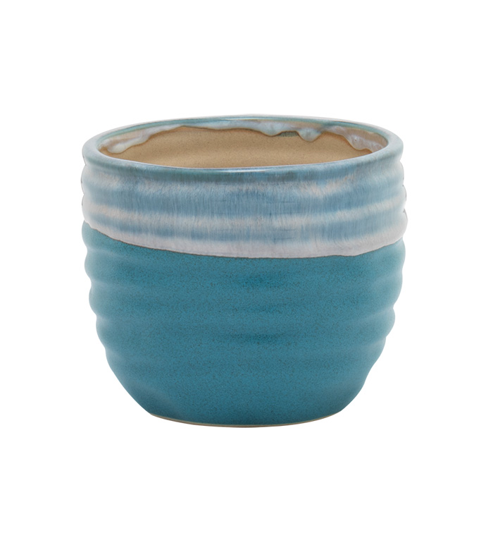 Large Blue Glaze Planter