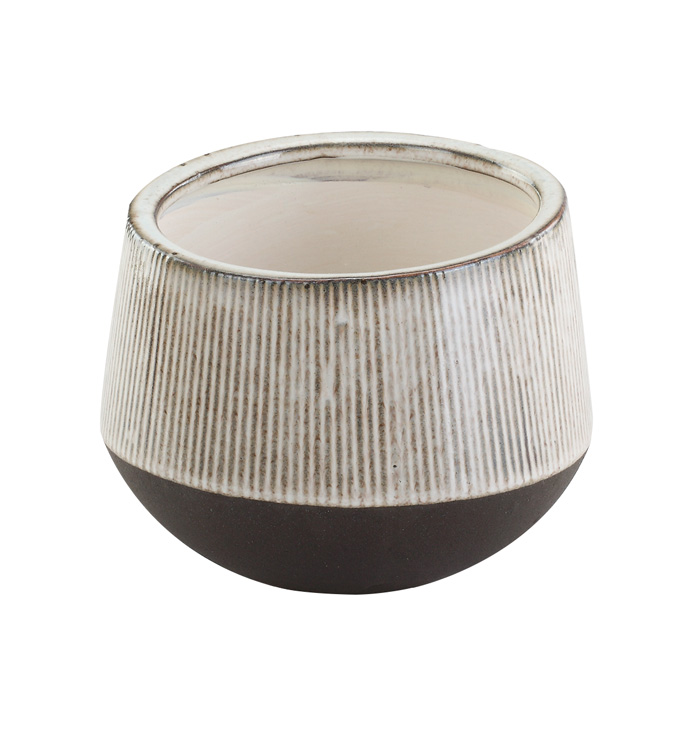 Large Ribbed Reactive Planter