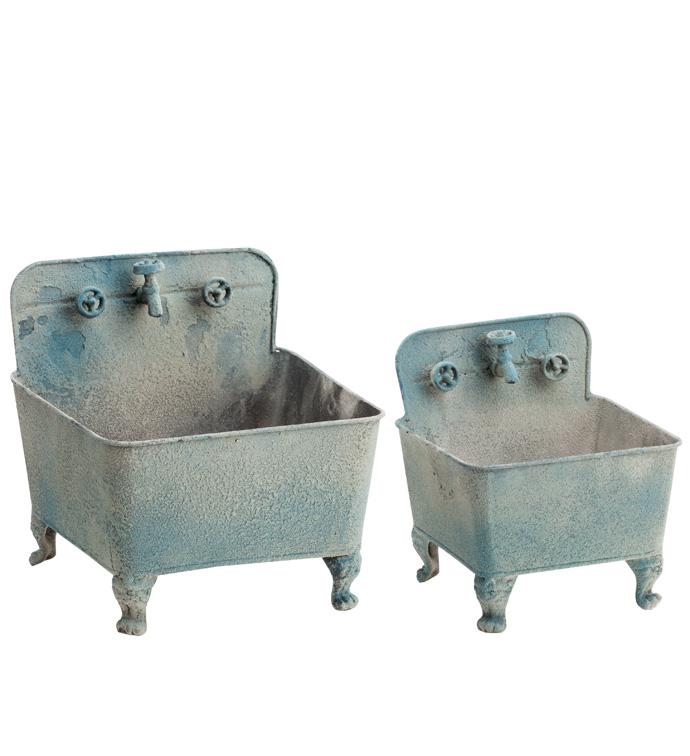Washtub Planter, Set of 2