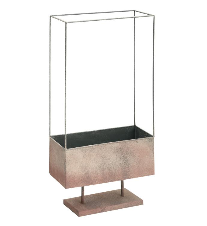 Pink Framed Pedestal Planter