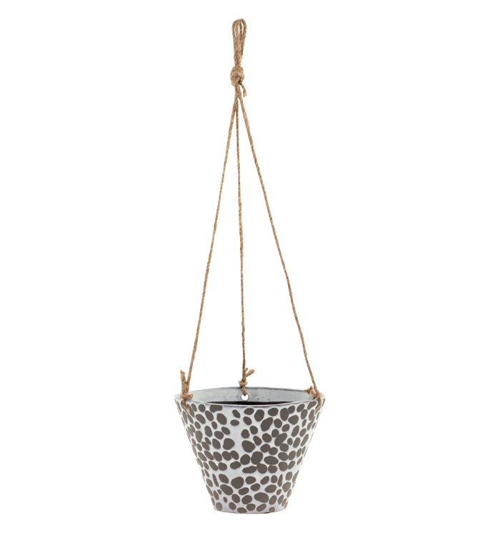 Large Hanging Spotted Planter