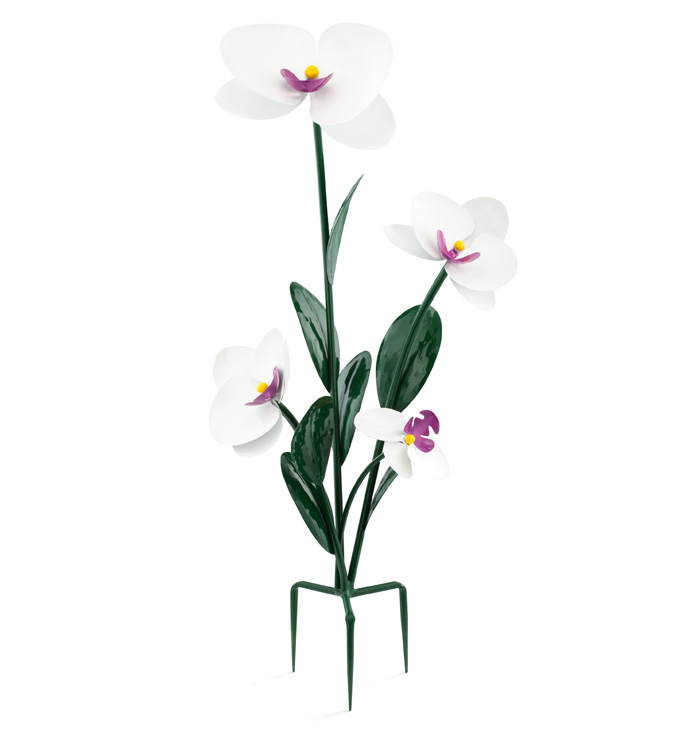 Cream Orchid Garden Stake