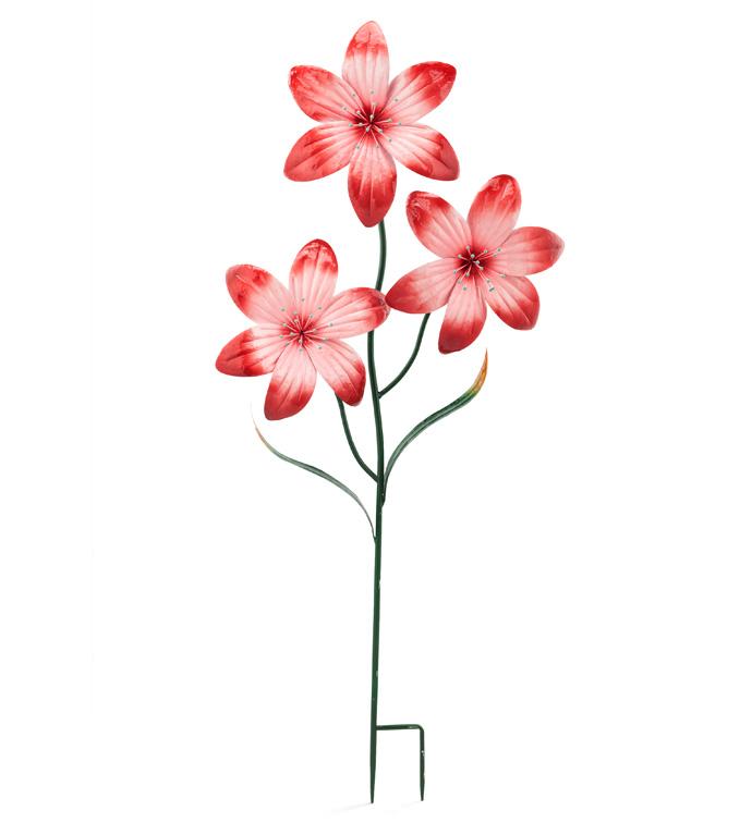 Pink Daylily Garden Stake