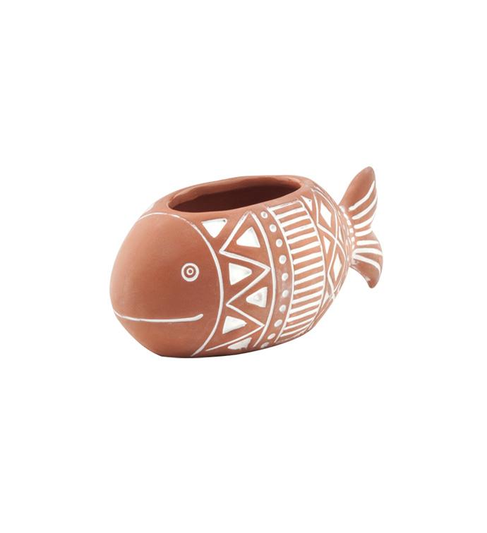Terracotta Fish Planter