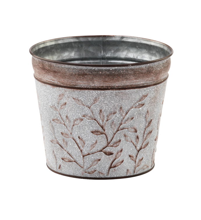 "6.5"" Vine Embossed Pot Cover"