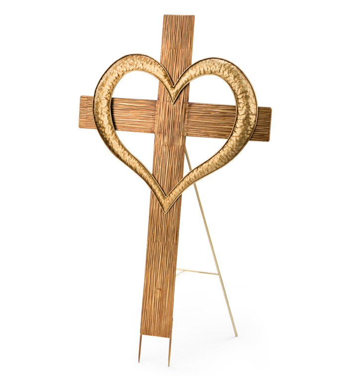Cross with Heart Easel
