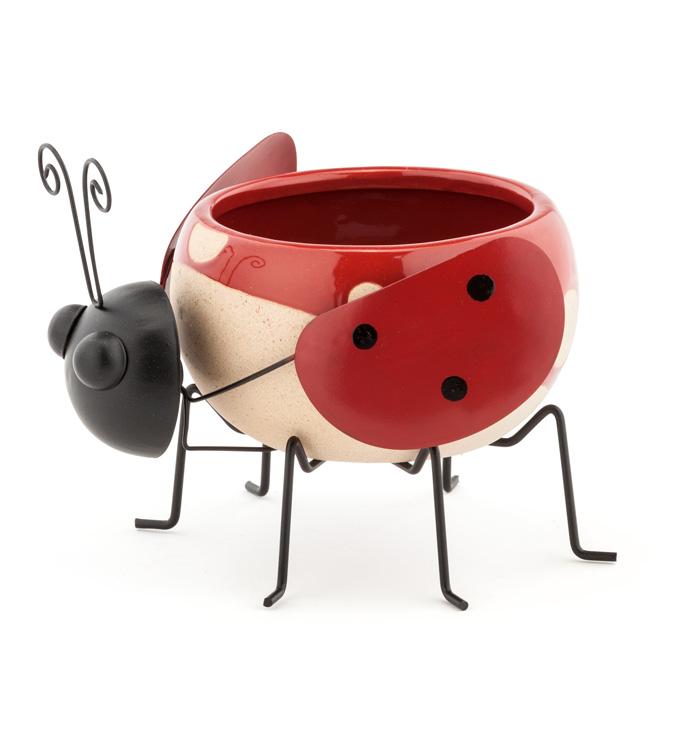 Ladybug Ball Planter w/Legs
