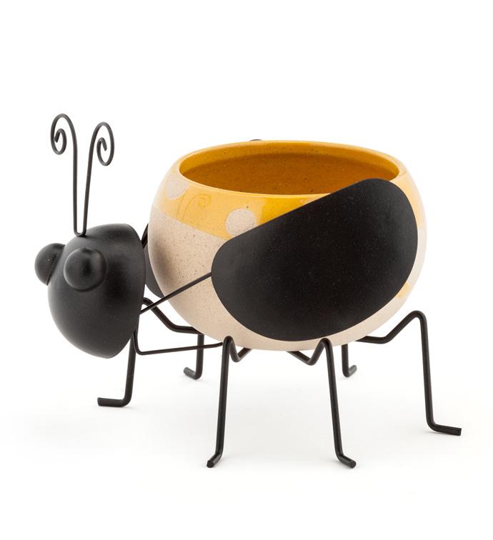 Bumblebee Ball Planter w/Legs