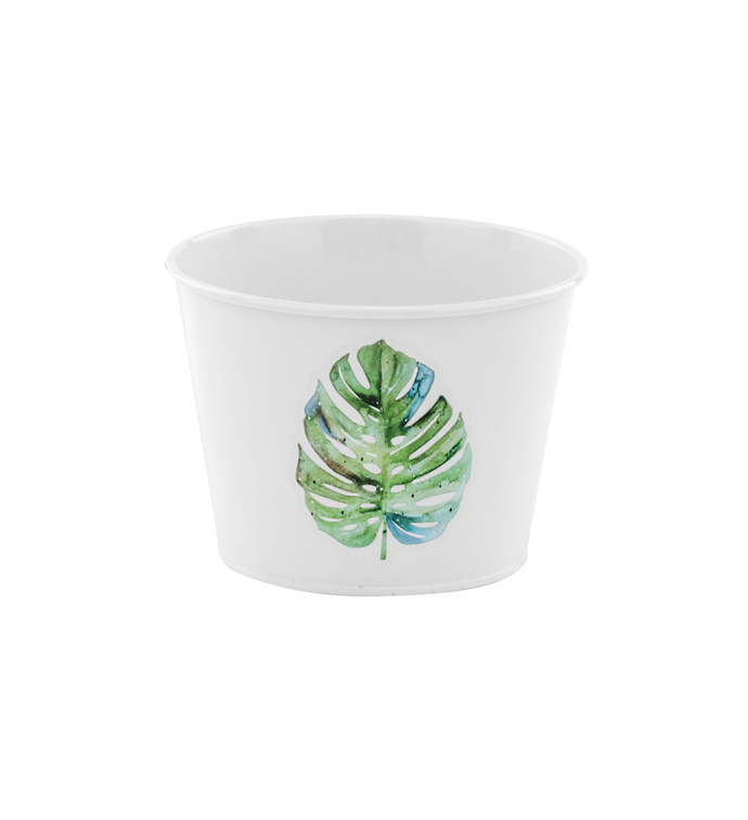 "5"" Tropical Leaf Pot Cover"