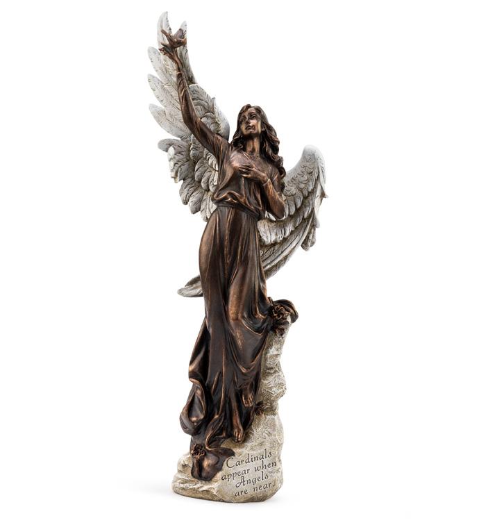Angel Holding Cardinal
