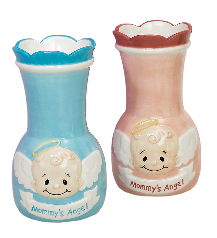 Mommy's Angel Vase, 2 Assorted