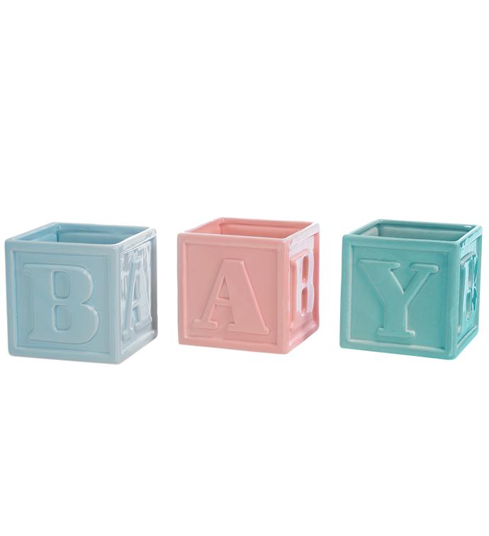 """""""B A B Y"""" Cube, 3 Assorted"""