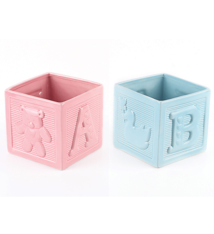 Pink and Blue Baby Block