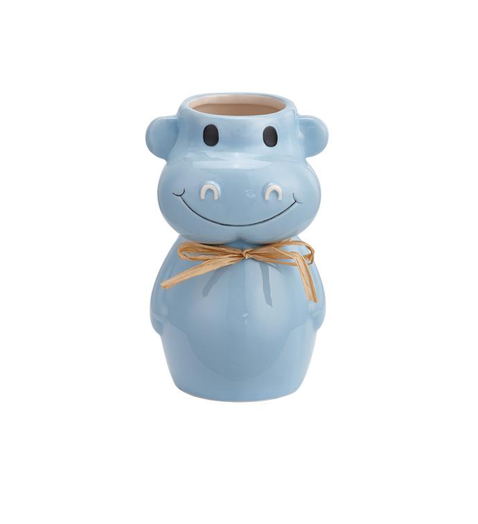 Blue Cow Vase