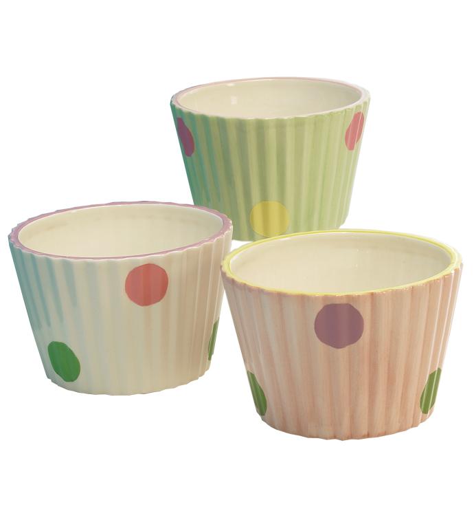 Cupcake Planter, 3 Assorted