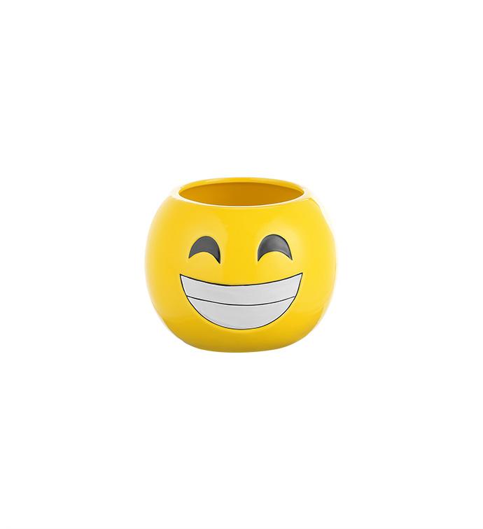 Smiley Face Emoji Ball Planter