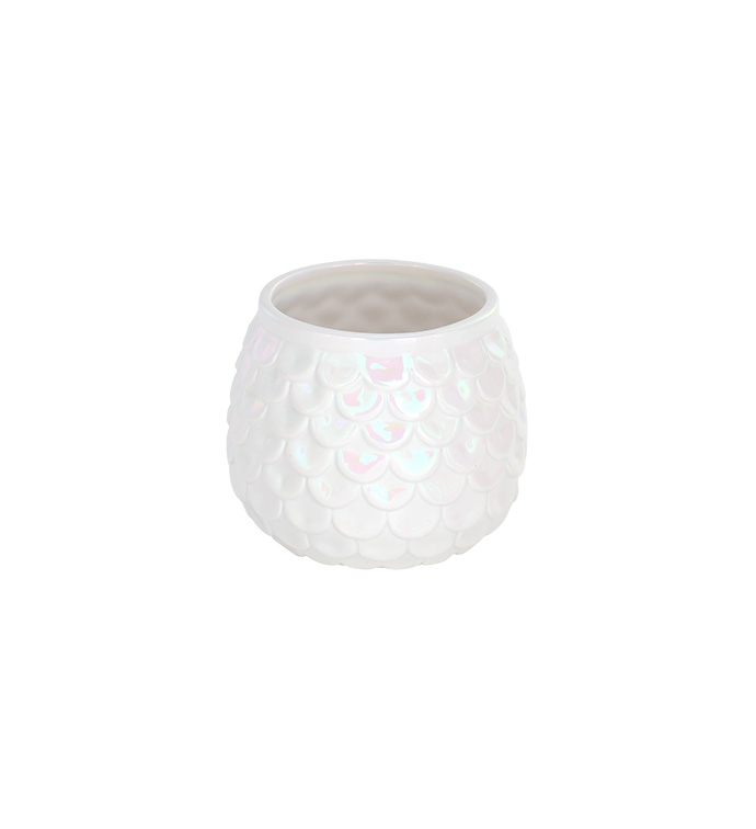 Pearl Scalloped Ball Planter