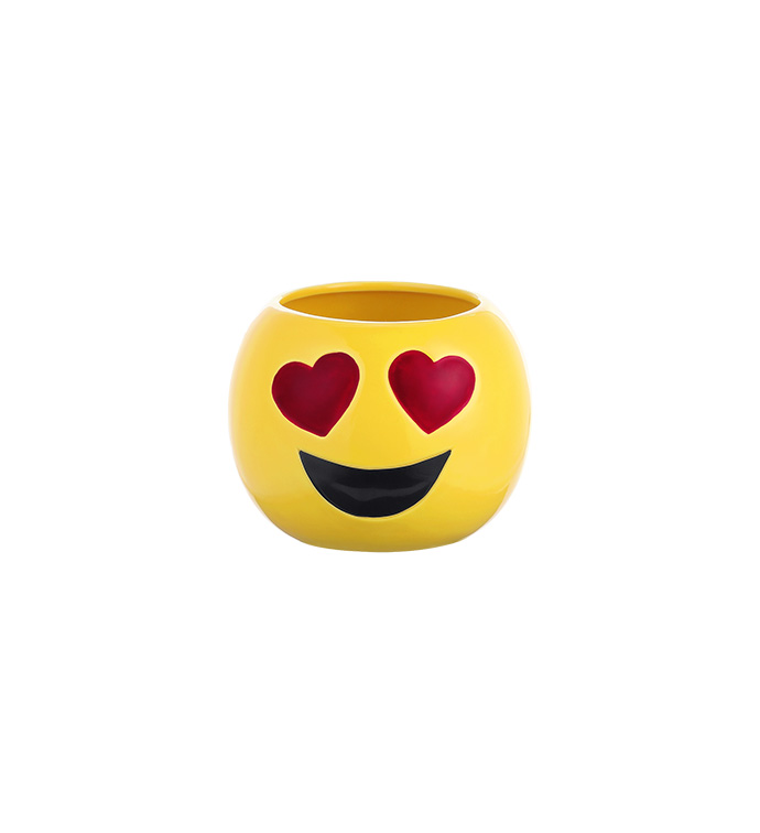 Heart Eyes Emoji Ball Planter