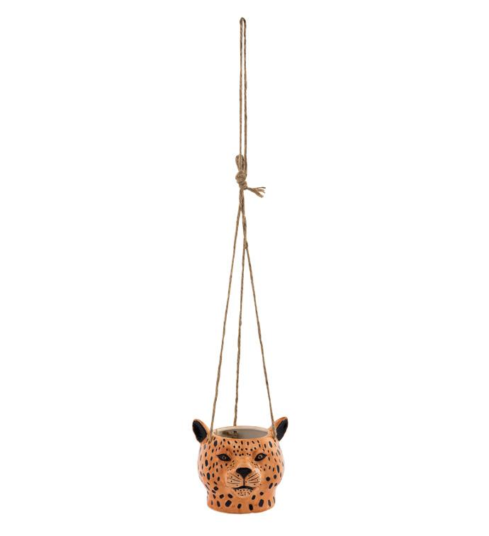 Hanging Leopard Head Planter
