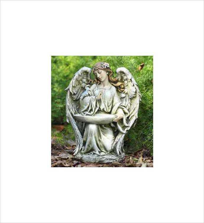 Kneeling Angel Birdfeeder