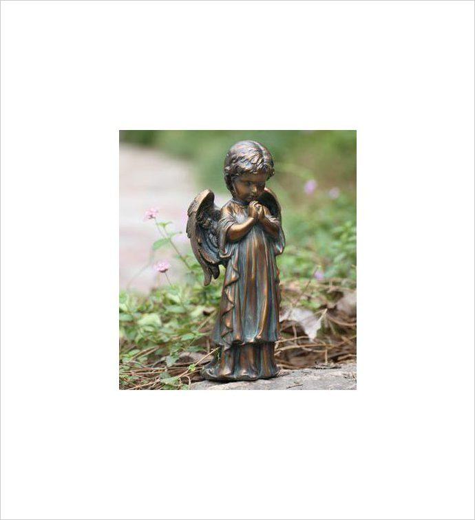 Bronze Spring Praying Angel