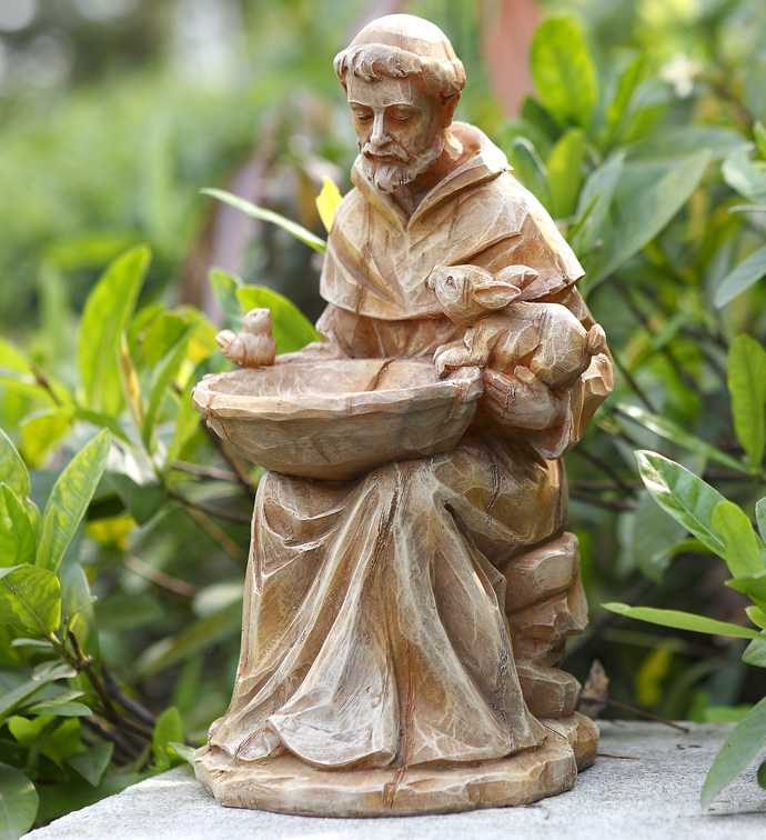 Sitting St. Francis