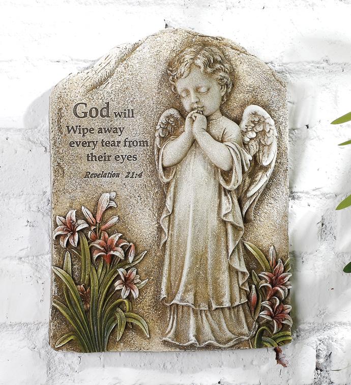 Praying Angel Plaque