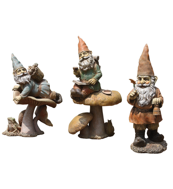 Gnome Figure, 3 Assorted