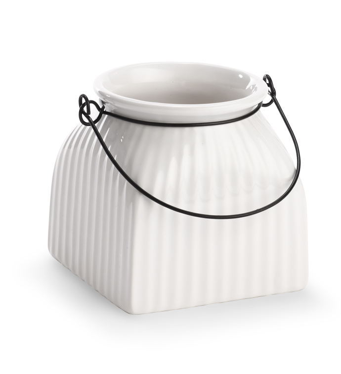 Small Square Jar with Handle