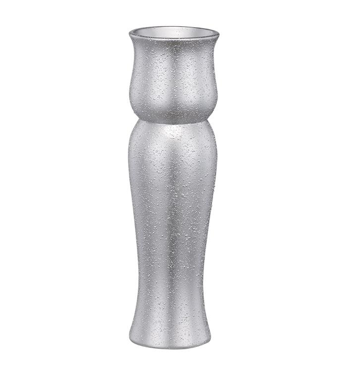 Tall Silver Textured Vase