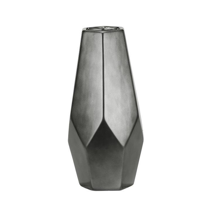 Electroplated Geometric Vase