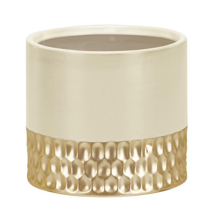 White and Gold Planter