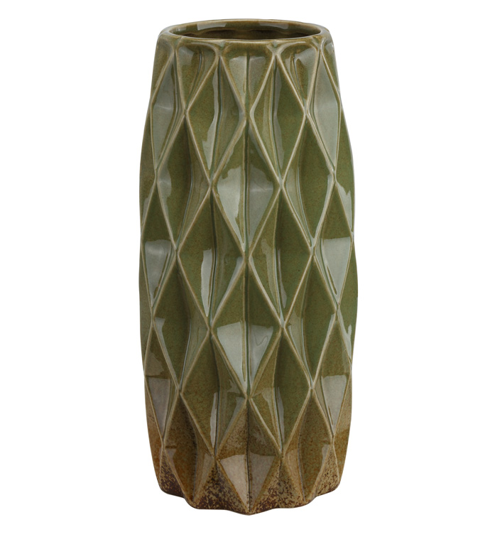 Reactive Green Diamond Vase