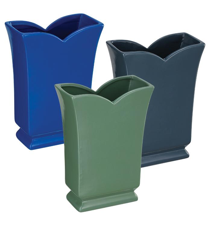 Flat Vase, 3 Assorted