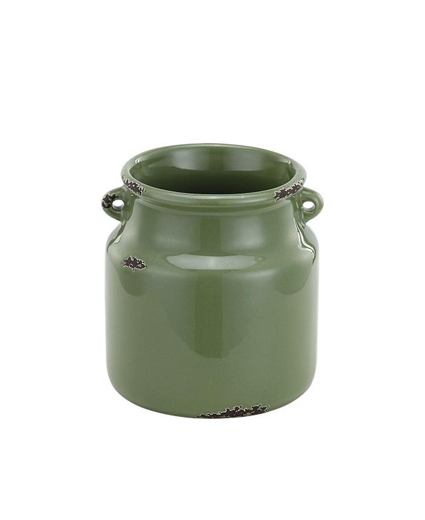"4.5"" Dark Green Jar Planter"