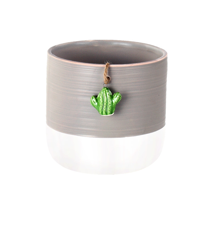 """4.5"""" Cache with Cactus Charm"""