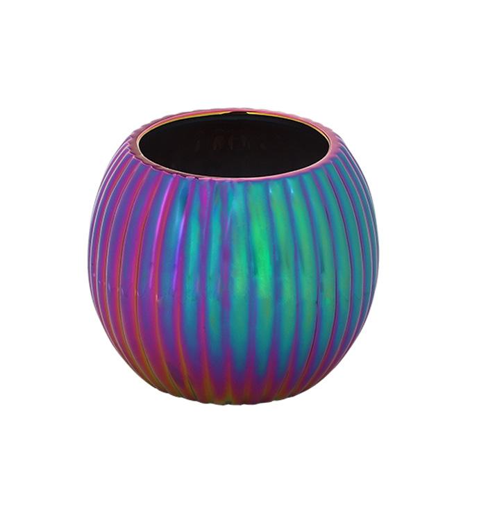 Rainbow Electroplate Ball Planter