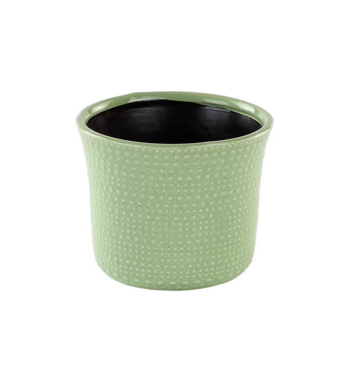 "4.5"" Green Hobnail Planter"