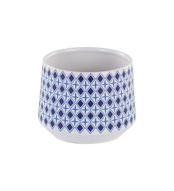 "4.5"" Blue/White Diamond Plante"
